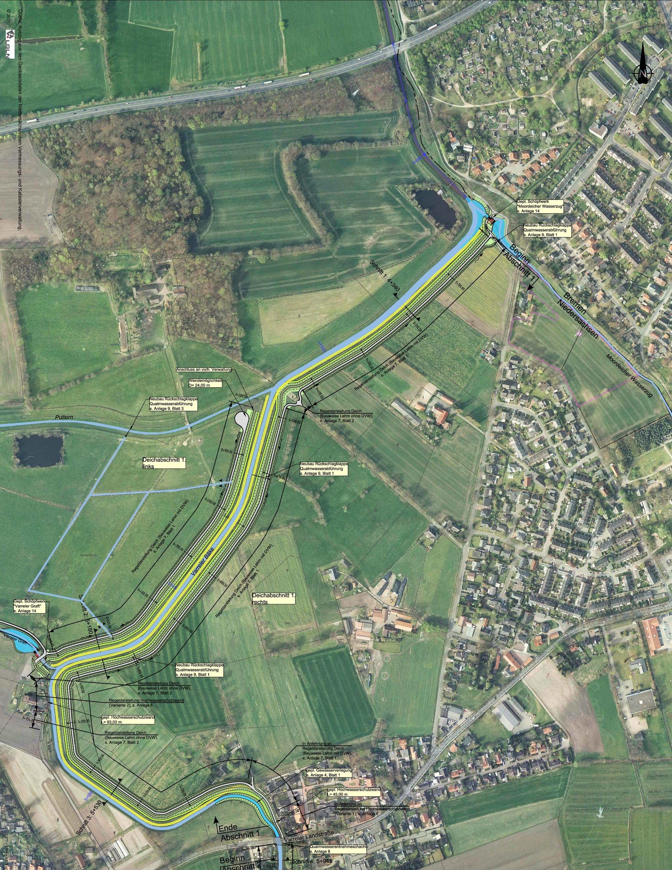 Hochwasserschutzplanung am Klosterbach/Varreler Bäke IDN-Projekt 5088