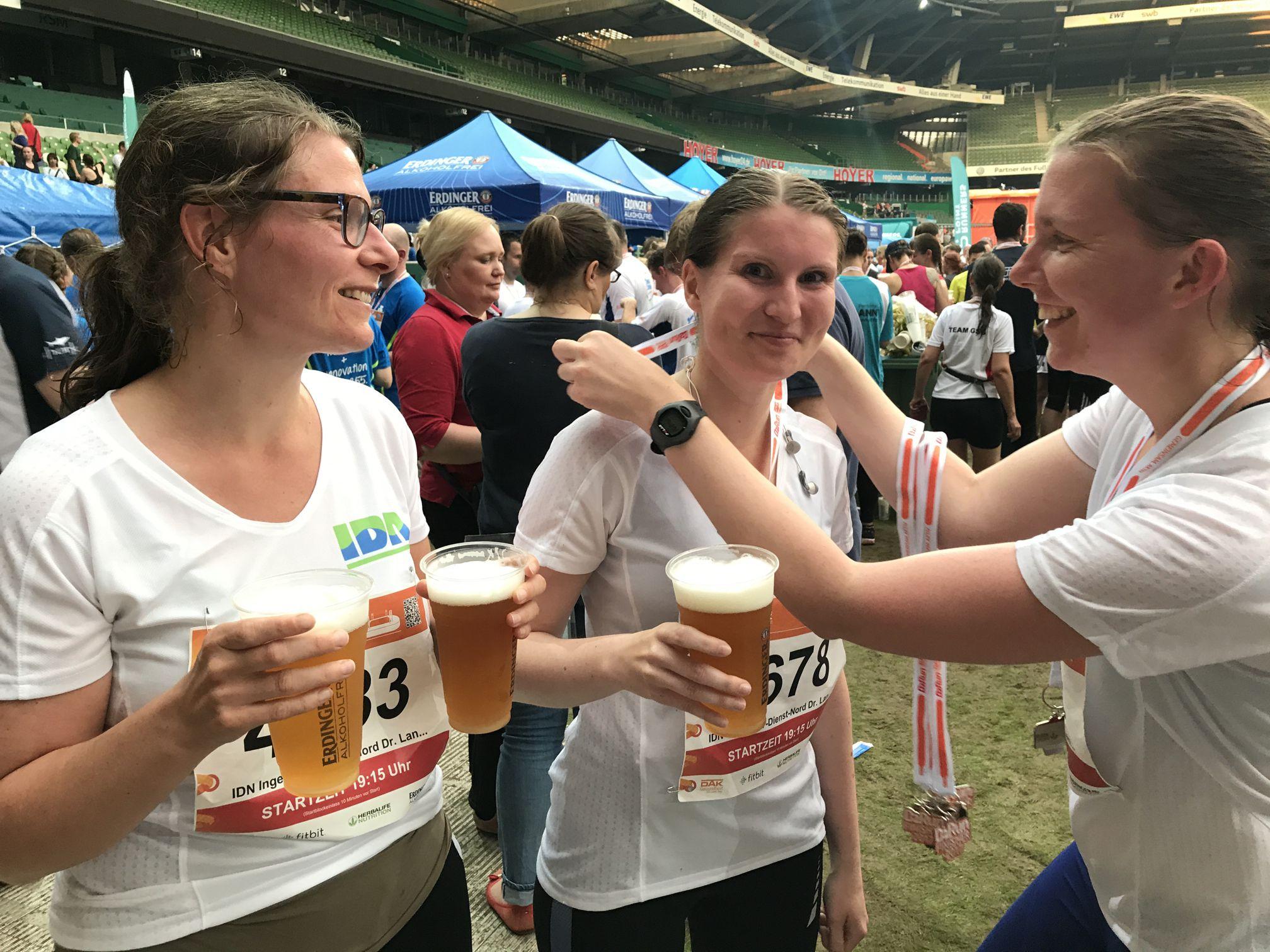 B2Run in Bremen im Juni 2017 - IDN-Team