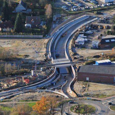 Entlastungsstraße Vechta-West Straßentrog mit Geh- und Radweg inkl. Bahnüberführung (Projekt: 5211)