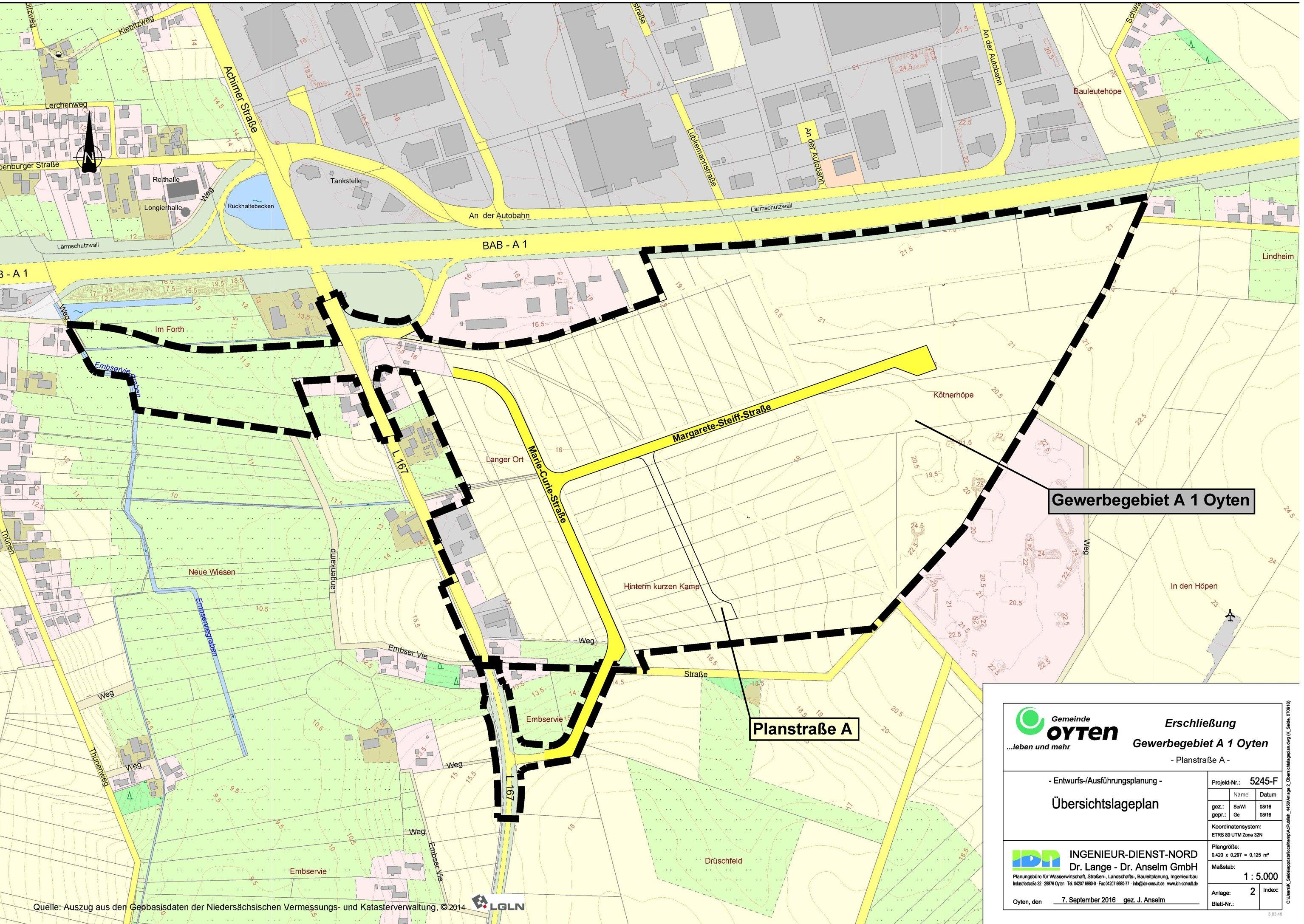Gewerbegebiet A1 Oyten IDN-Projekt 5245