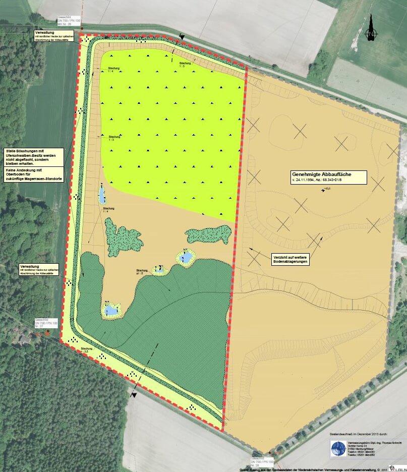 Westliche Erweiterung des Trockenabbaus in Kirchwalsede IDN-Projekt 5255