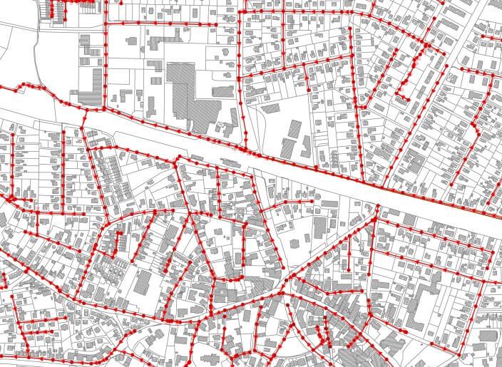 Aufstellung SW-Kanalkataster in der Gemeinde Oyten - IDN Referenz