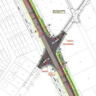 Umgestaltung Knotenpunkt L 130/Vareler Weg/Fuhrenkamp - IDN Referenz