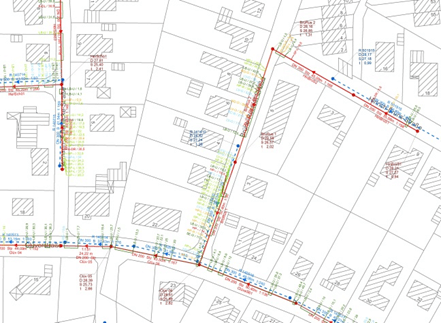 Aufstellung SW_Kanalkataster_Fortschreibung RW-/SW-Kanalisation Stadt Achim- IDN Referenz